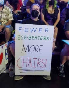 Fewer Egg-Beaters More Chairs